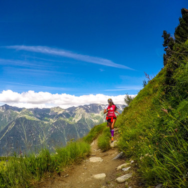 French Alps - running