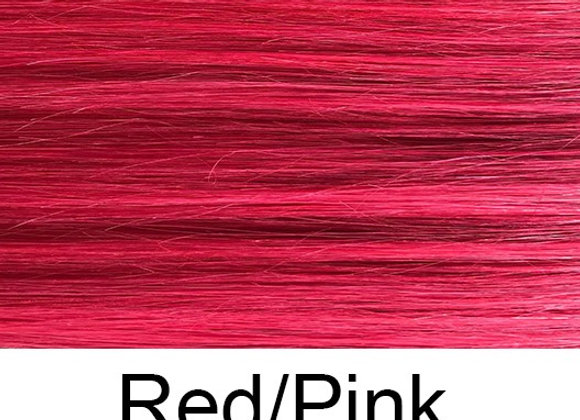 18inch Single 2nch wide clip in hair extension Red/Pink