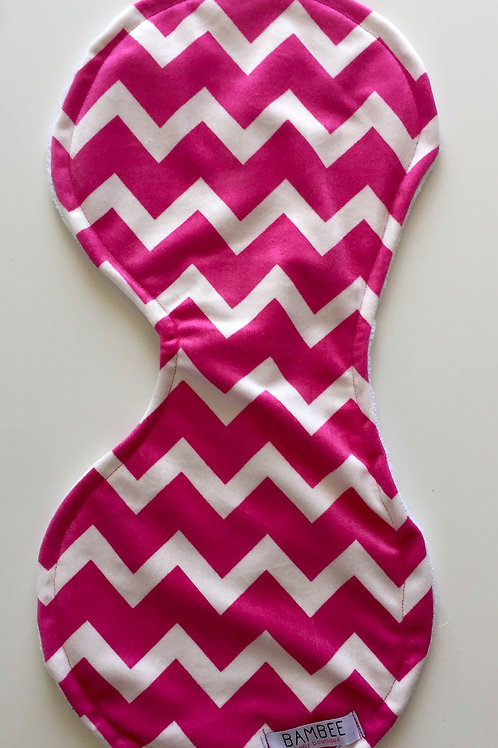 Pink Zig Zag Contoured Burp Cloth