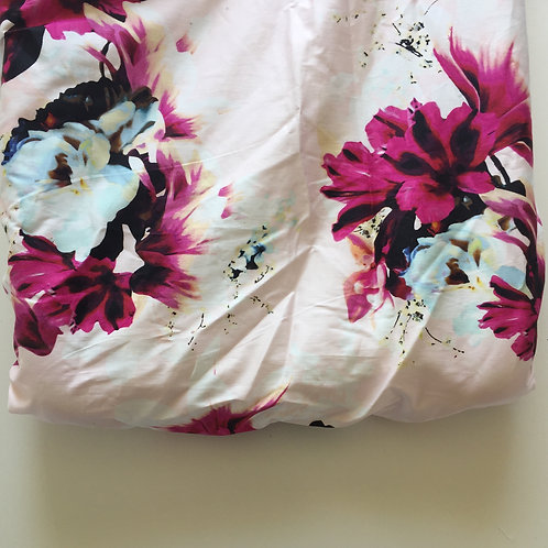 Pink Floral Change Mat Cover