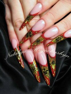 russian themed  wedding bridal nails.jpg
