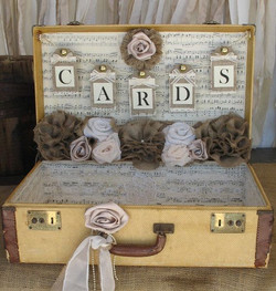 music themed wedding vintage wedding card holder.jpg