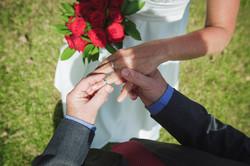 Ring eschange Elopement wedding
