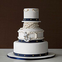 nautical wedding cake with ropes and anchor.jpg