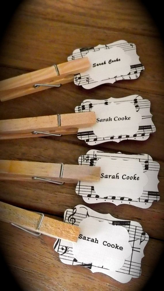 music themed wedding place names, name cards.jpg