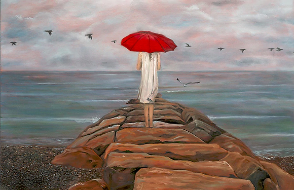 """Girl with the Red Umbrella"""