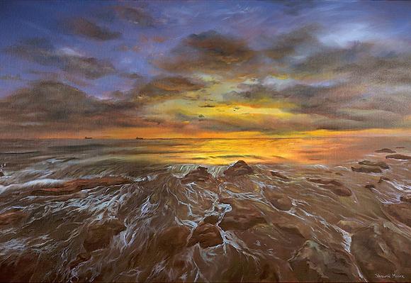 """""""Rushing Waters"""" Original Painting"""