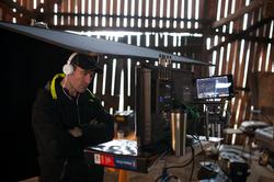 Peter Dimako on set