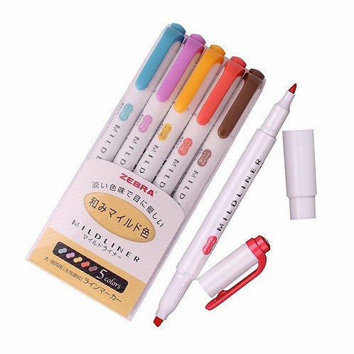 Zebra Mildliner Soft Color Double-Sided Highlighter Pens (Yellow Pack)