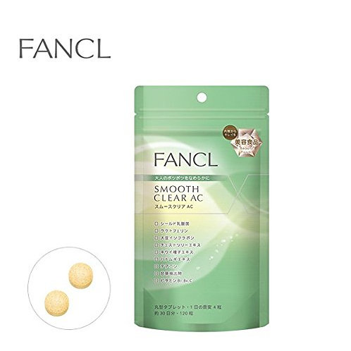 FANCL Smooth Clear AC(Acne Care),Beauty Supplement, 30 days x 1 pack