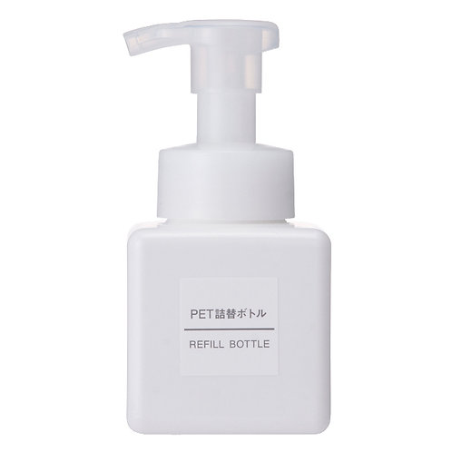 MUJI PET Refill Soap Bottle, Foam Type, White · 250ml