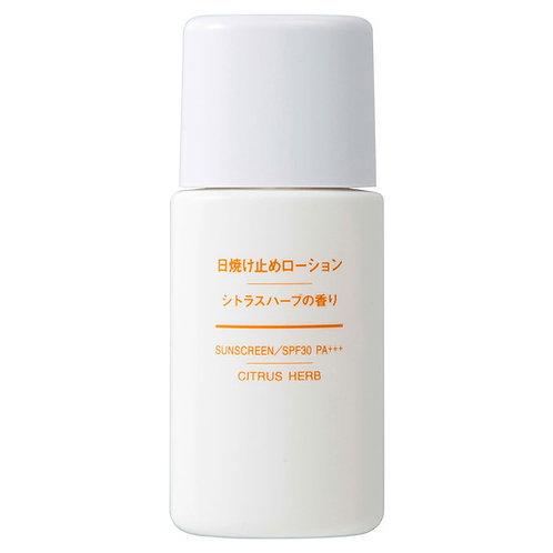 MUJI Sunscreen Lotion Citrus Herb 30ml SPF30+/PA++