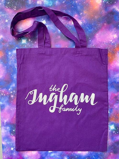 Ingham Family Tote Bag - Cosmic Purple