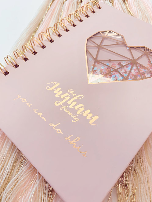 Ingham Family Rose Gold Note Book - STUNNING!!