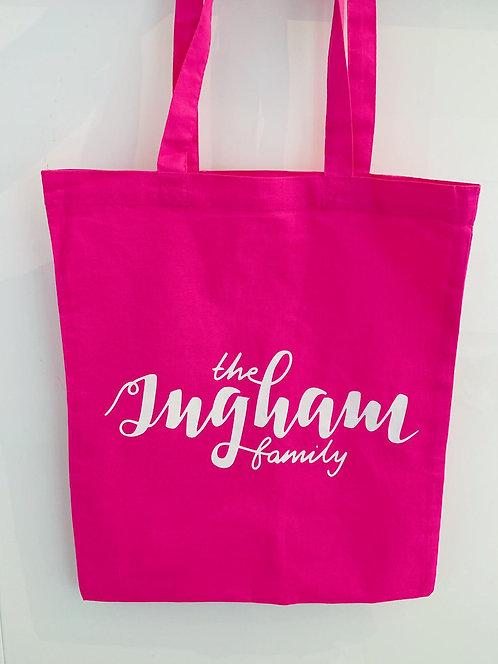 Ingham Family Tote Bag - Hot Pink