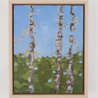 birches (mostly blue) SOLD