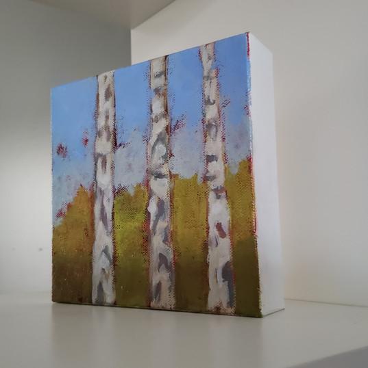 'small birches' shown on shelf