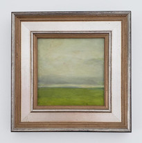 abstraction in grey and green
