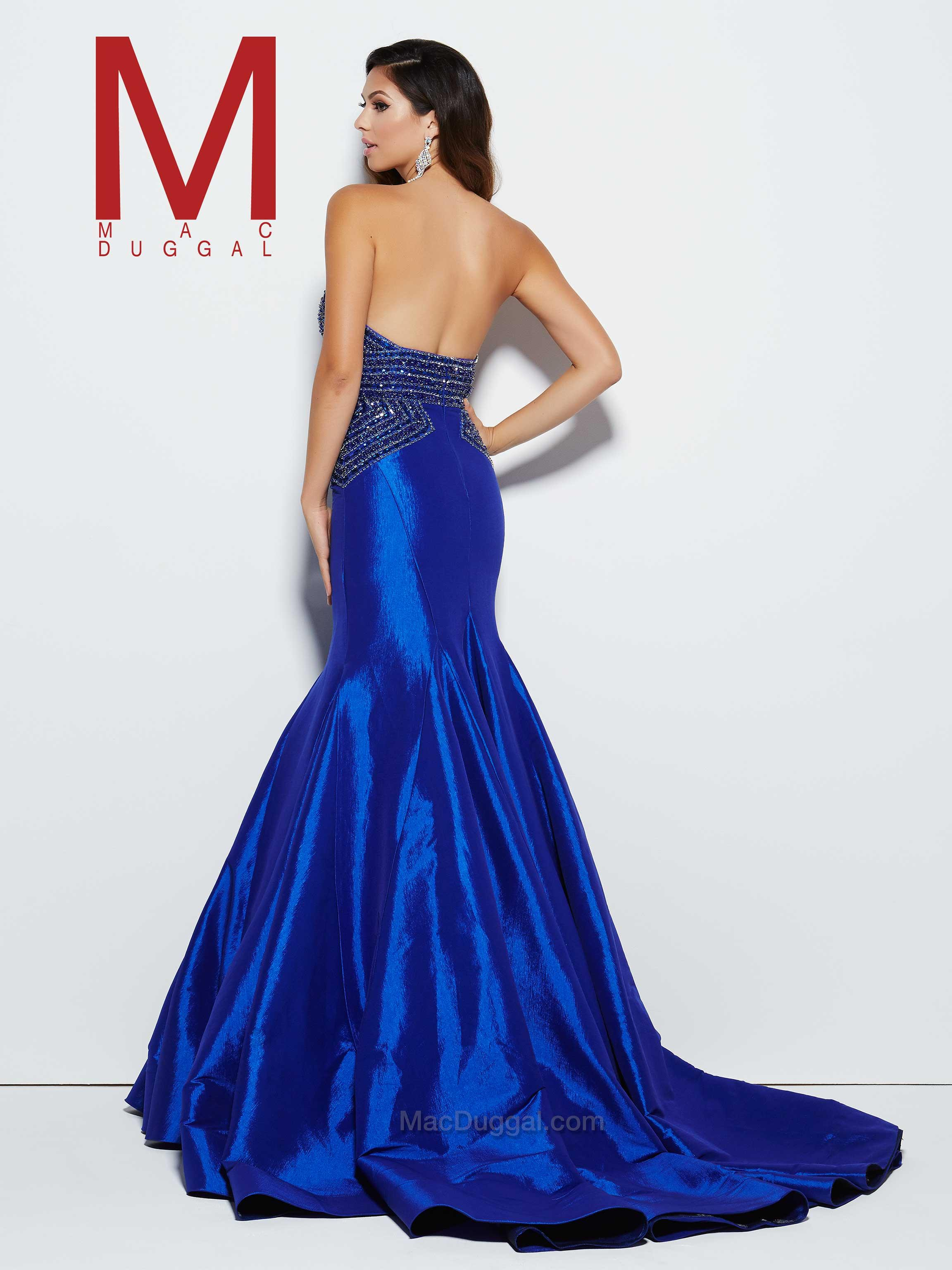 sweeping electric blue gown - 736×929