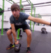 Jordan Burns Personal Trainer exercising at the Falmer Sports Complex in Brighton.