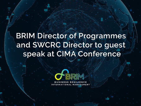 BRIM Director of Programmes and SWCRC Director to guest speak at CIMA Conference