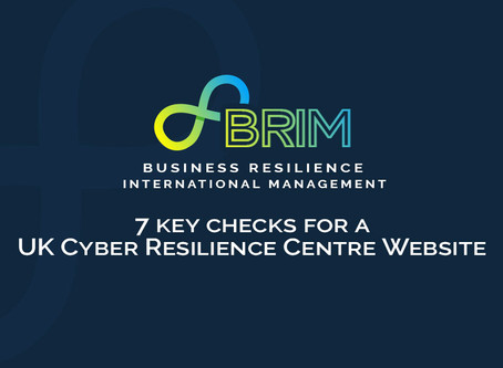 7 Key checks for a UK Cyber Resilience Centre website