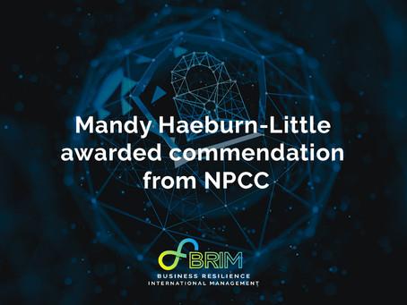 Mandy Haeburn-Little awarded commendation from NPCC