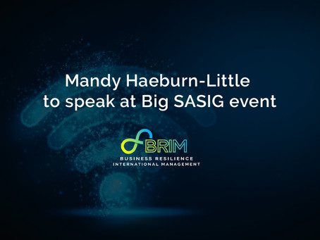 Mandy Haeburn-Little to speak at Big SASIG event