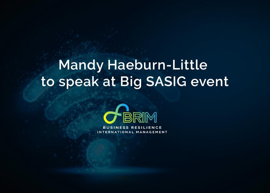 Mandy Haeburn-Little BRIM SASIG event