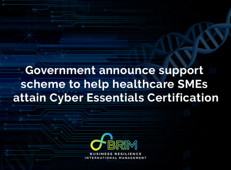 Government announce support scheme to help healthcare SMEs attain Cyber Essentials Certification