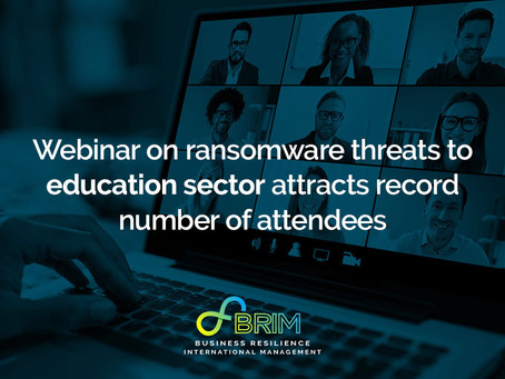 Webinar on ransomware threats to education sector attracts record number of attendees