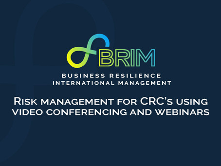 Risk management for CRC's using video conferencing and webinars
