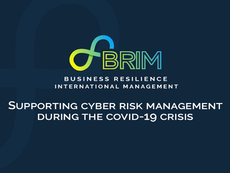 SUPPORTING CYBER RISK MANAGEMENT DURING THE COVID-19 CRISIS