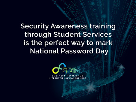 Security Awareness training with Student Services is the perfect way to mark National Password Day