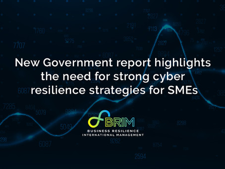 New Government report highlights the need for strong cyber resilience strategies for SMEs