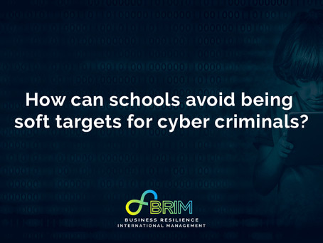 How can schools avoid being soft targets for cyber criminals?