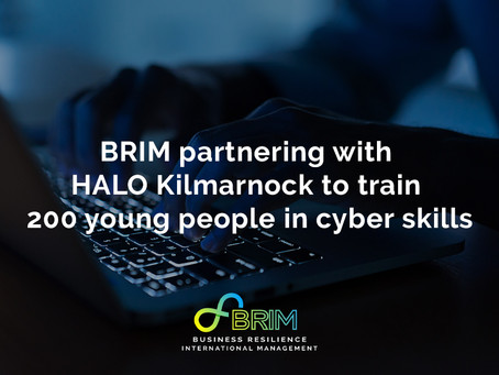 BRIM partnering with HALO Kilmarnock to train 200 young people in cyber skills