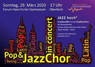 Konzert Pop und Jazz Chor Oberkirch 29. März 2020