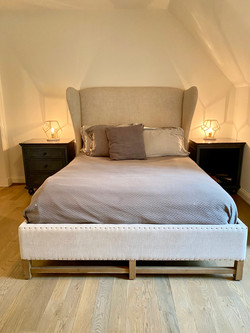 RH French Wing Queen Bed