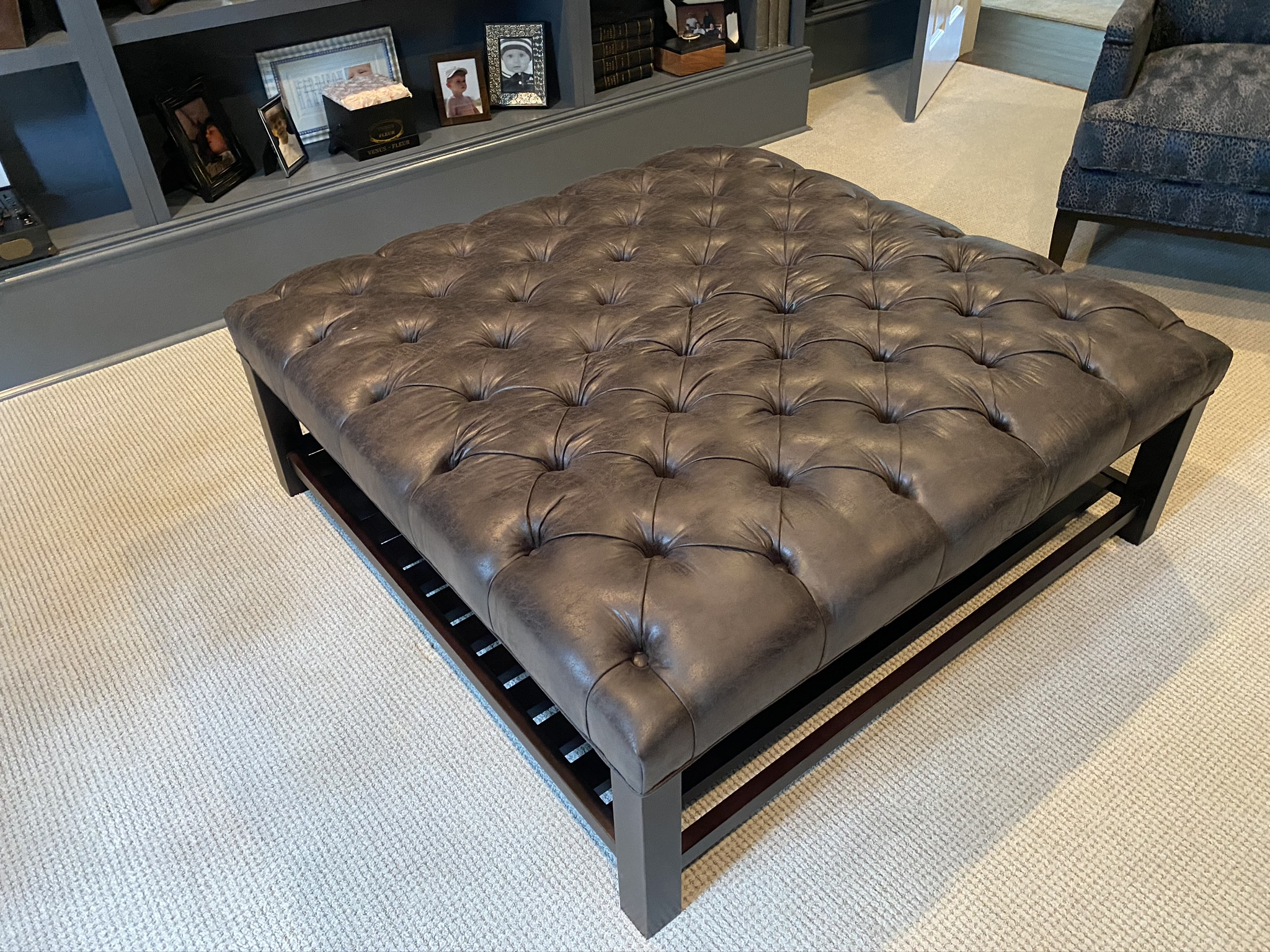 SOLD: Butler Tufted Ottoman from Arhaus