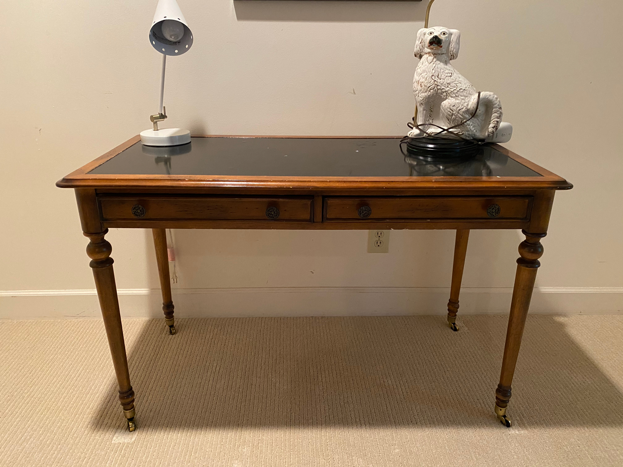 Desk With Black Inset