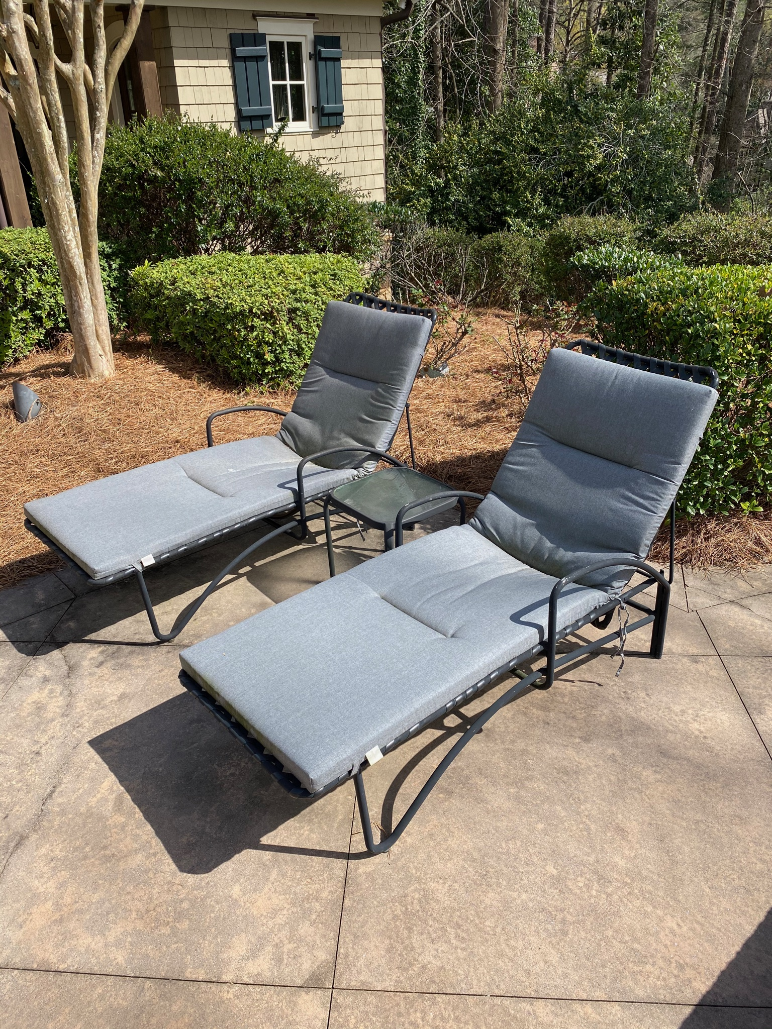 SOLD: Pair Brown Jordan Chaise Lounges