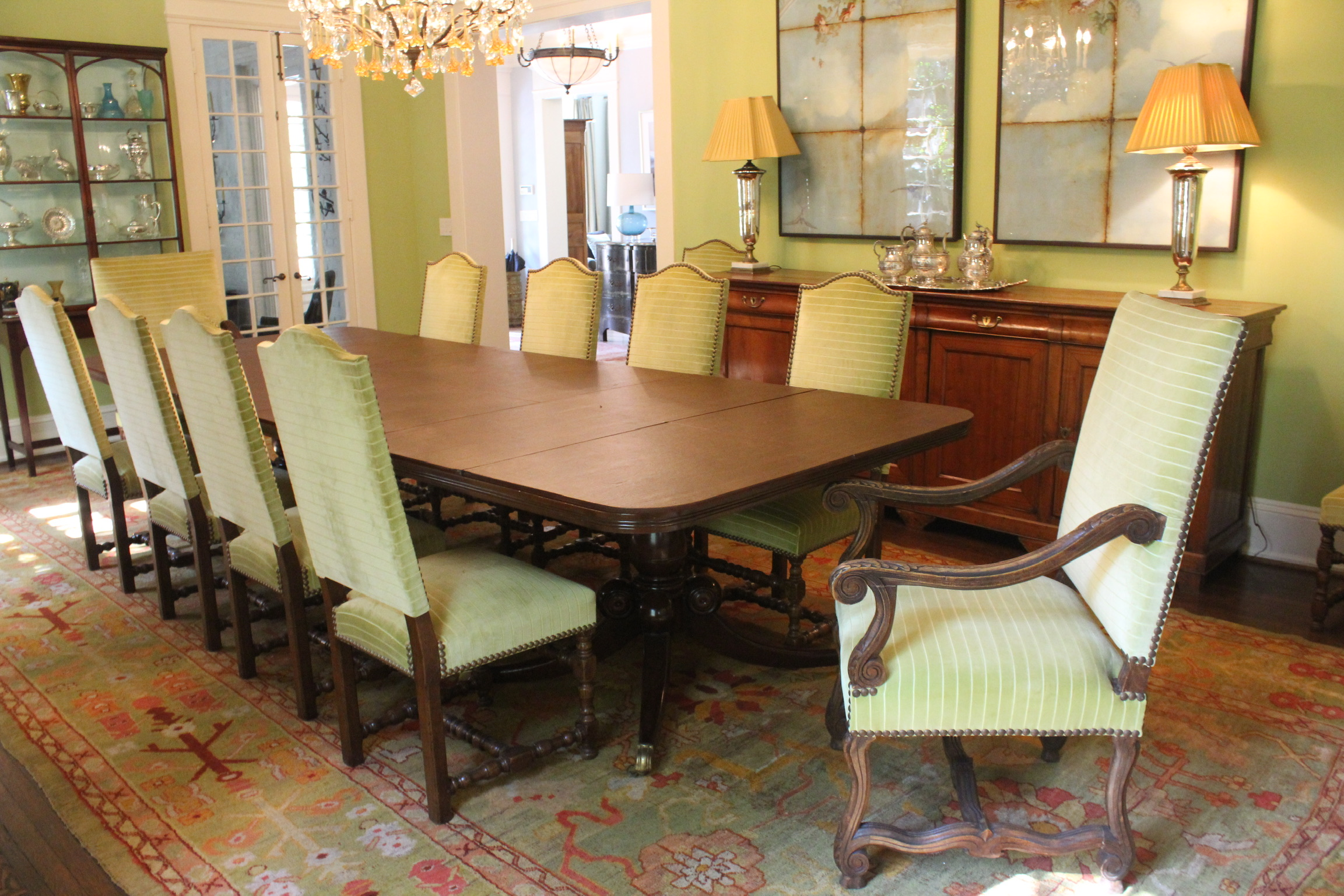 SOLD: Set of 12 Dining Chairs
