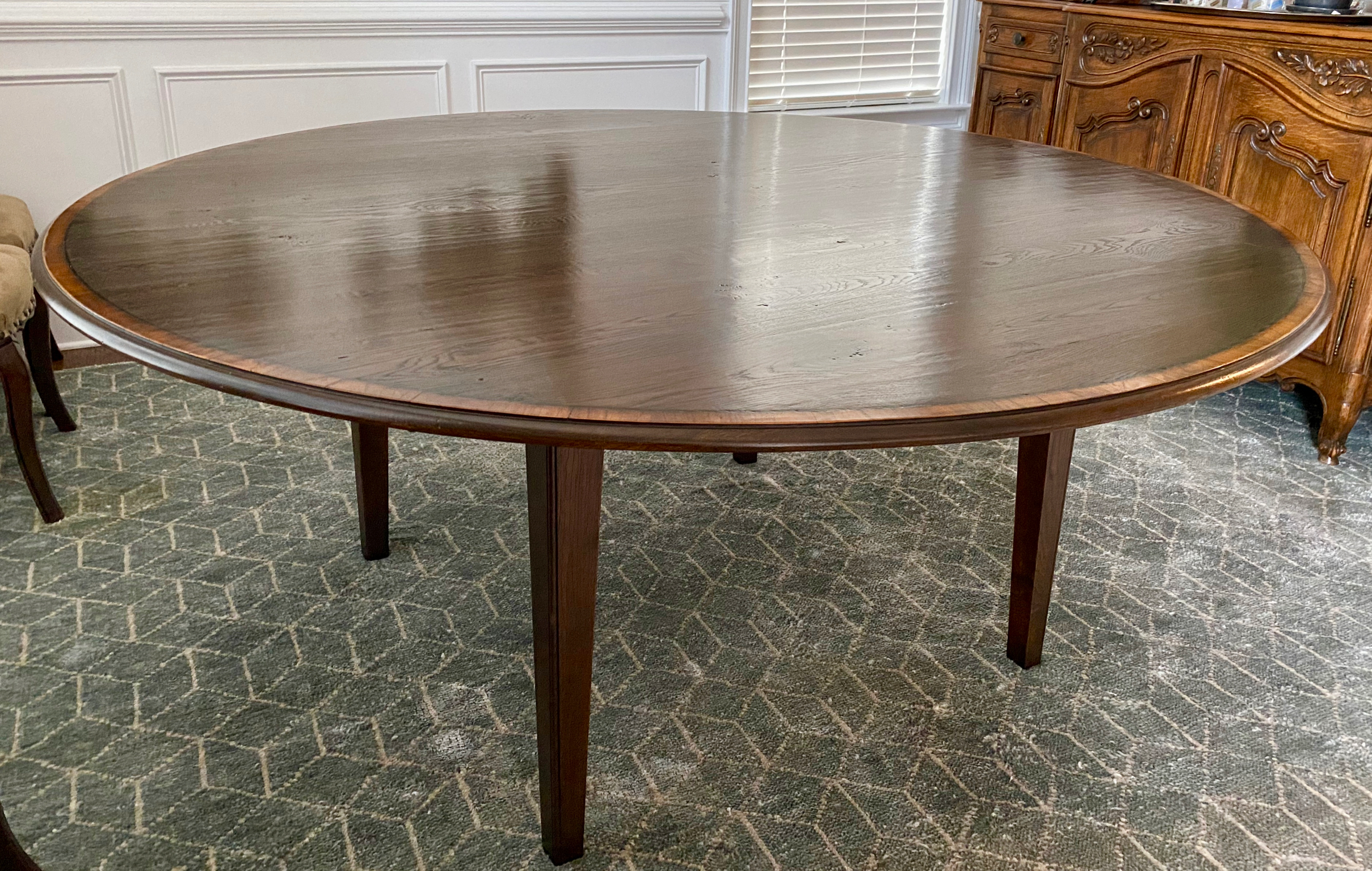 """72"""" Englishman's Banded Dining Table"""