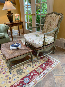 French Chair & Ottoman