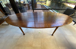 Antique Oak Oval Dining Table