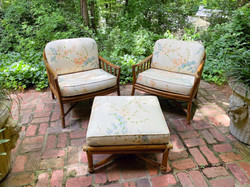 SOLD: Ficks Reed Chairs & Ottoman