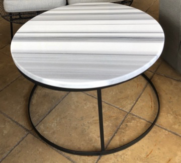 Mink Marble Top End Table