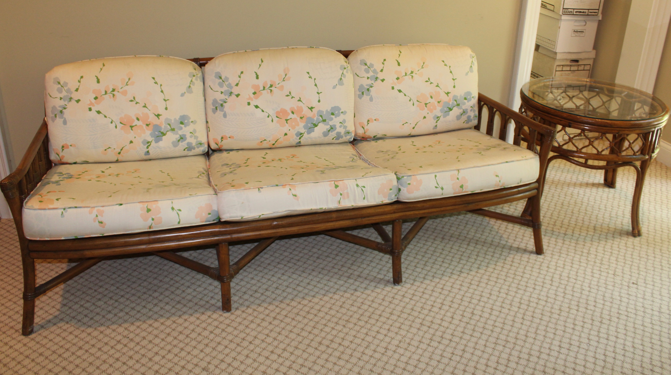 SOLD: Ficks Reed Rattan Sofa