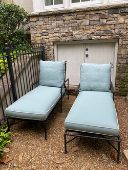 Pair of Arhaus Chaise Lounges